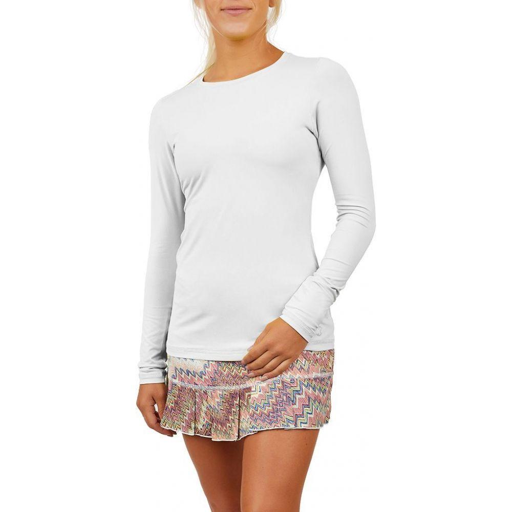 ソフィベラ Sofibella レディース ブラウス・シャツ トップス【UV Long Sleeve Shirt】White