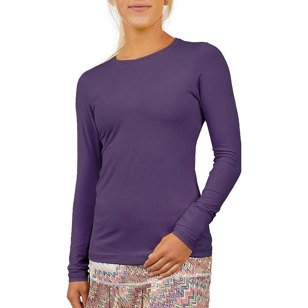 ソフィベラ Sofibella レディース ブラウス・シャツ トップス【UV Long Sleeve Shirt】Plum