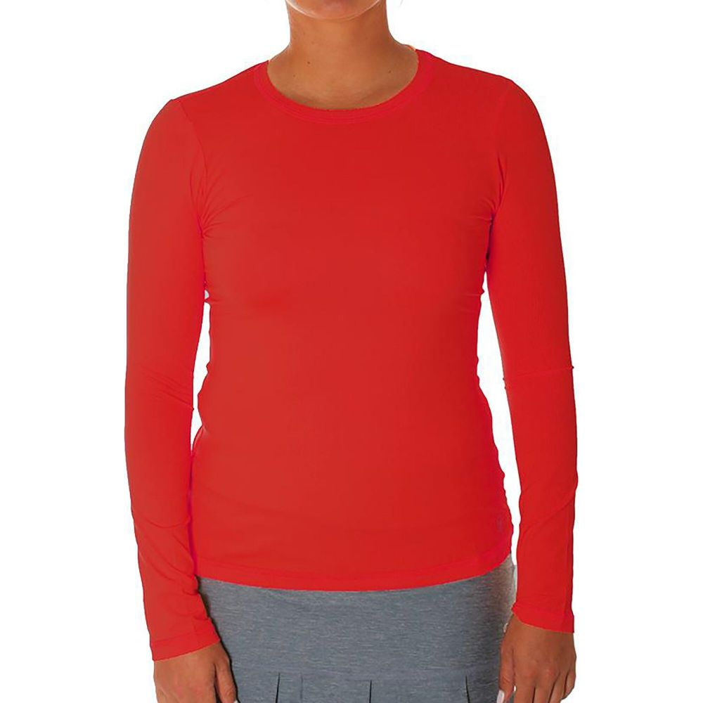 ソフィベラ Sofibella レディース ブラウス・シャツ トップス【UV Long Sleeve Shirt】Red