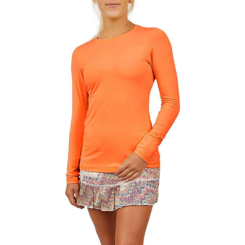 ソフィベラ Sofibella レディース ブラウス・シャツ トップス【UV Long Sleeve Shirt】Nectarine