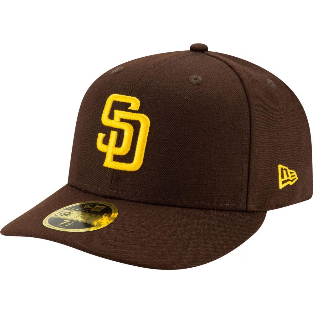 ニューエラ メンズ 帽子 キャップ 割り引き サイズ交換無料 New Era San 今だけ限定15%OFFクーポン発行中 59Fifty Crown Brown Hat Low Padres Fitted Diego