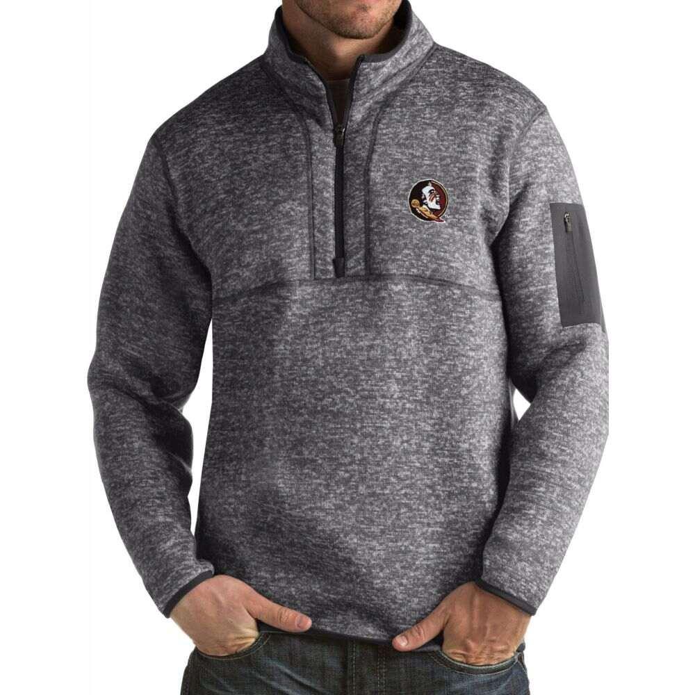 アンティグア メンズ トップス サイズ交換無料 Antigua Florida 輸入 Fortune Grey Pullover マーケティング Seminoles State Jacket