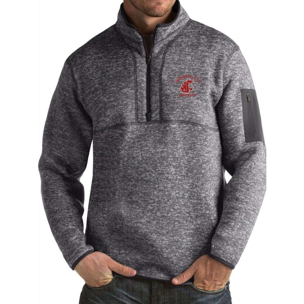 アンティグア メンズ トップス サイズ交換無料 Antigua 店内限界値引き中&セルフラッピング無料 Washington Cougars Grey Jacket Fortune Pullover 市販 State