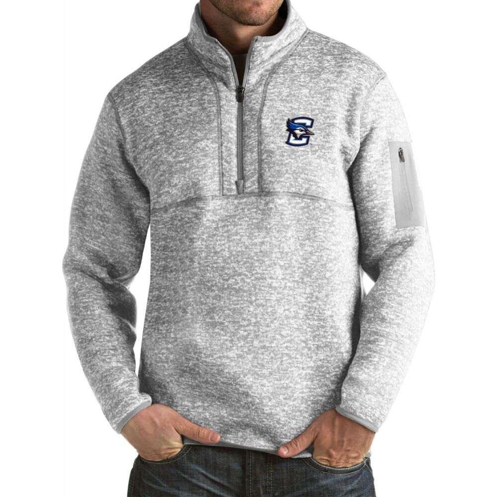 アンティグア メンズ トップス サイズ交換無料 Antigua Creighton Fortune 正規認証品 新規格 Pullover Grey Bluejays 即納送料無料! Jacket