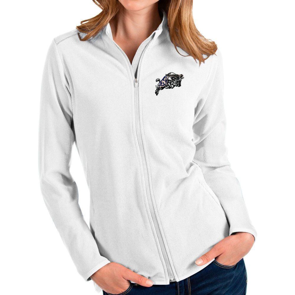 アンティグア Glacier レディース Antigua Jacket】 Full-Zip アウター【Navy Midshipmen White ジャケット