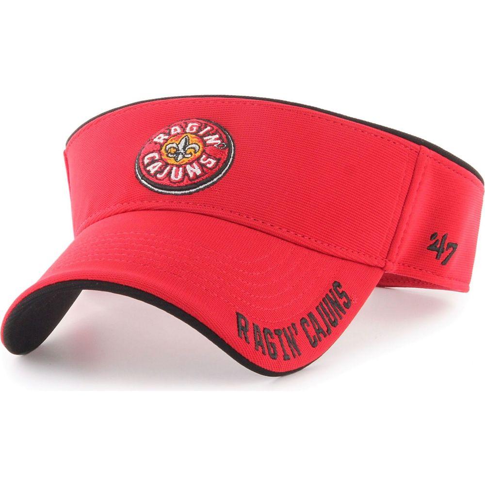 フォーティセブン メンズ 帽子 サンバイザー 【サイズ交換無料】 フォーティセブン 47 メンズ サンバイザー 帽子【Louisiana-Lafayette Ragin' Cajuns Red Top Rope Adjustable Visor】