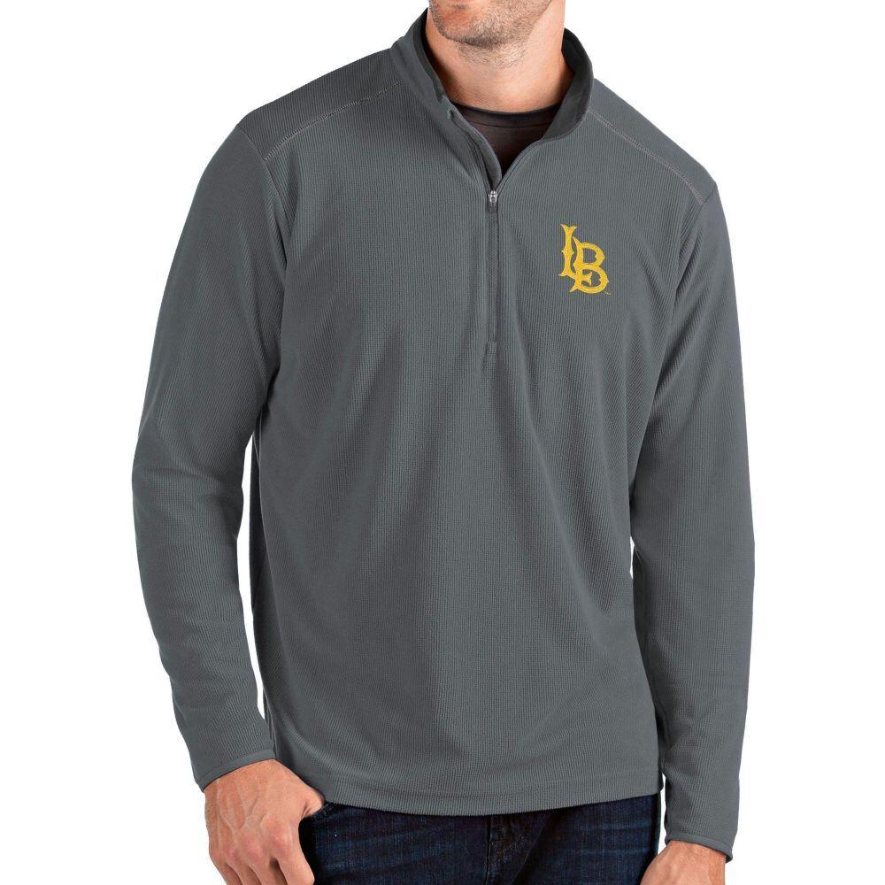 【激安】 アンティグア Antigua メンズ トップス ハーフジップ【Long Beach State 49ers Grey Glacier Quarter-Zip Shirt】, メジャーアメフト即納店SELECTION af9055af