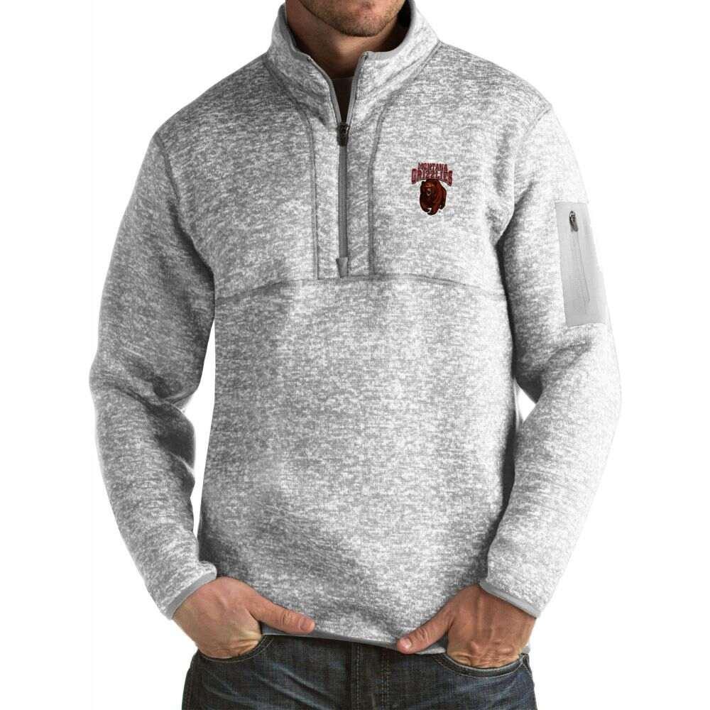 アンティグア メンズ トップス サイズ交換無料 Antigua Montana 上質 Grizzlies 2020春夏新作 Grey Jacket Pullover Fortune