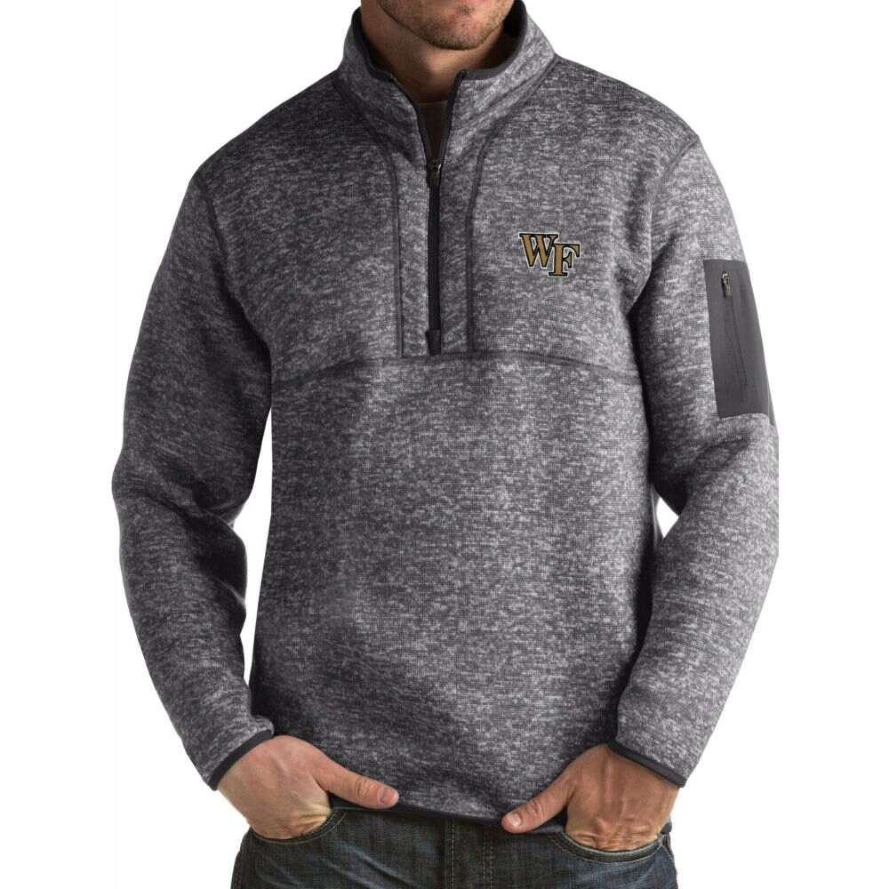 アンティグア メンズ トップス 当店は最高な サービスを提供します サイズ交換無料 Antigua Wake Forest 即納送料無料! Fortune Demon Pullover Grey Jacket Deacons