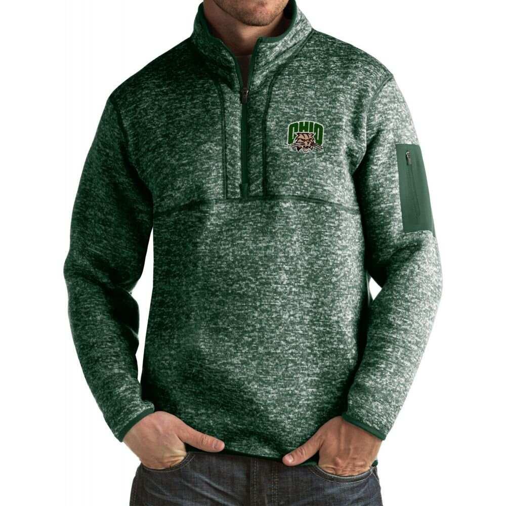 日本正規代理店品 アンティグア メンズ トップス サイズ交換無料 Antigua Ohio Bobcats Fortune Jacket Green 超歓迎された Pullover