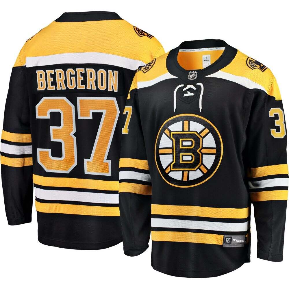 ファナティクス Fanatics メンズ トップス 【NHL Boston Bruins Patrice Bergeron #37 Breakaway Home Replica Jersey】