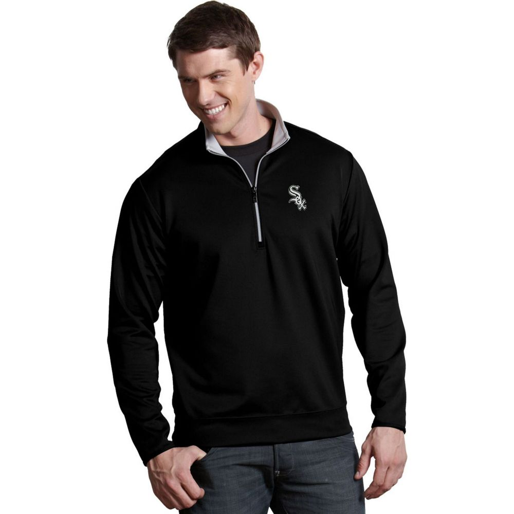 出産祝い アンティグア Antigua メンズ トップス Sox ハーフジップ【Chicago Antigua White Sox Pullover】 Leader Black Quarter-Zip Pullover】, シュヴェスター:a8cf0a06 --- coursedive.com