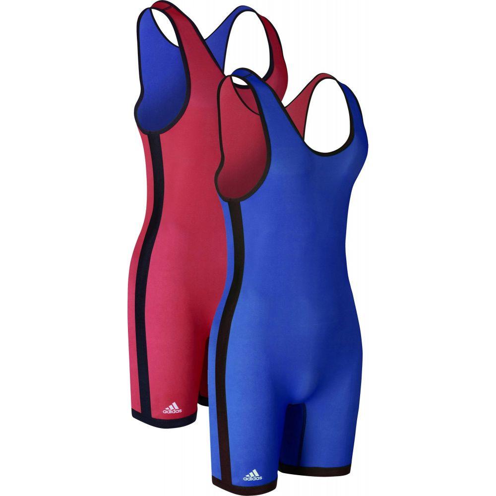 アディダス メンズ 保証 レスリング トップス Red Royal サイズ交換無料 Reversible 新着セール Singlet Adult シングレット Wrestling adidas