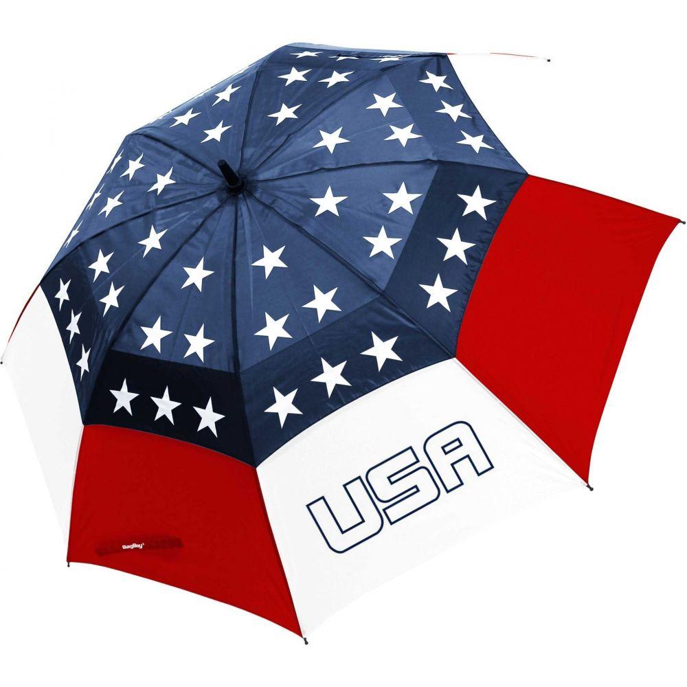 バグボーイ ユニセックス 財布 時計 雑貨 傘 Red 評判 White Blue Umbrella USA ※アウトレット品 Wind Golf Vent Boy Bag サイズ交換無料 62