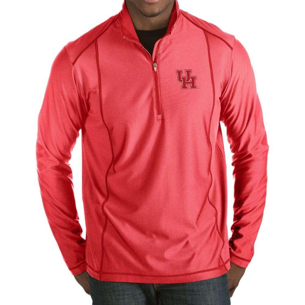 お気にいる アンティグア Antigua メンズ トップス【Houston Cougars Red アンティグア Tempo トップス Half-Zip Red Pullover】, ホドガヤク:cb4d8b2c --- coursedive.com