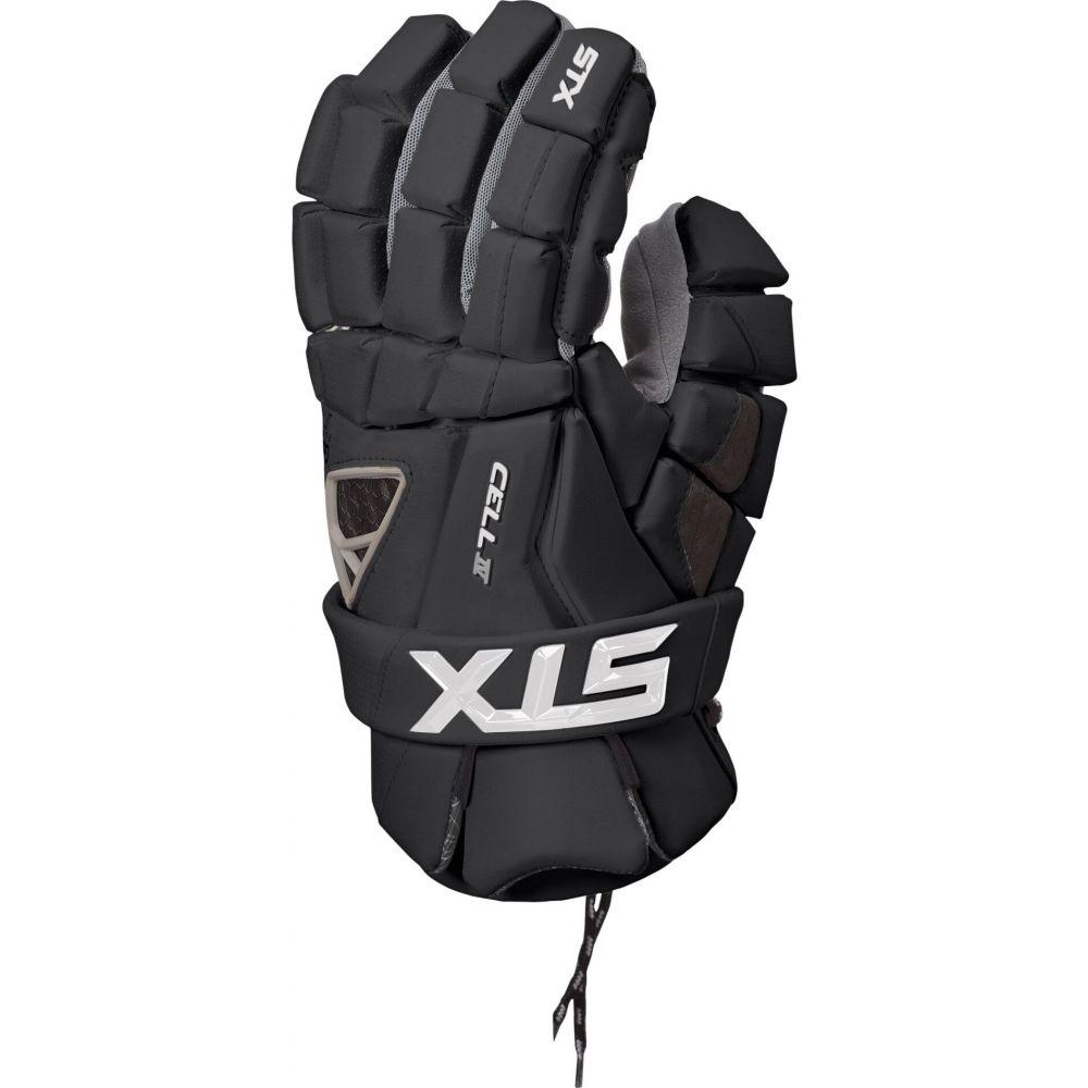 エスティーエックス メンズ ラクロス グローブ Black 【サイズ交換無料】 エスティーエックス STX メンズ ラクロス グローブ【Cell IV Lacrosse Gloves】Black