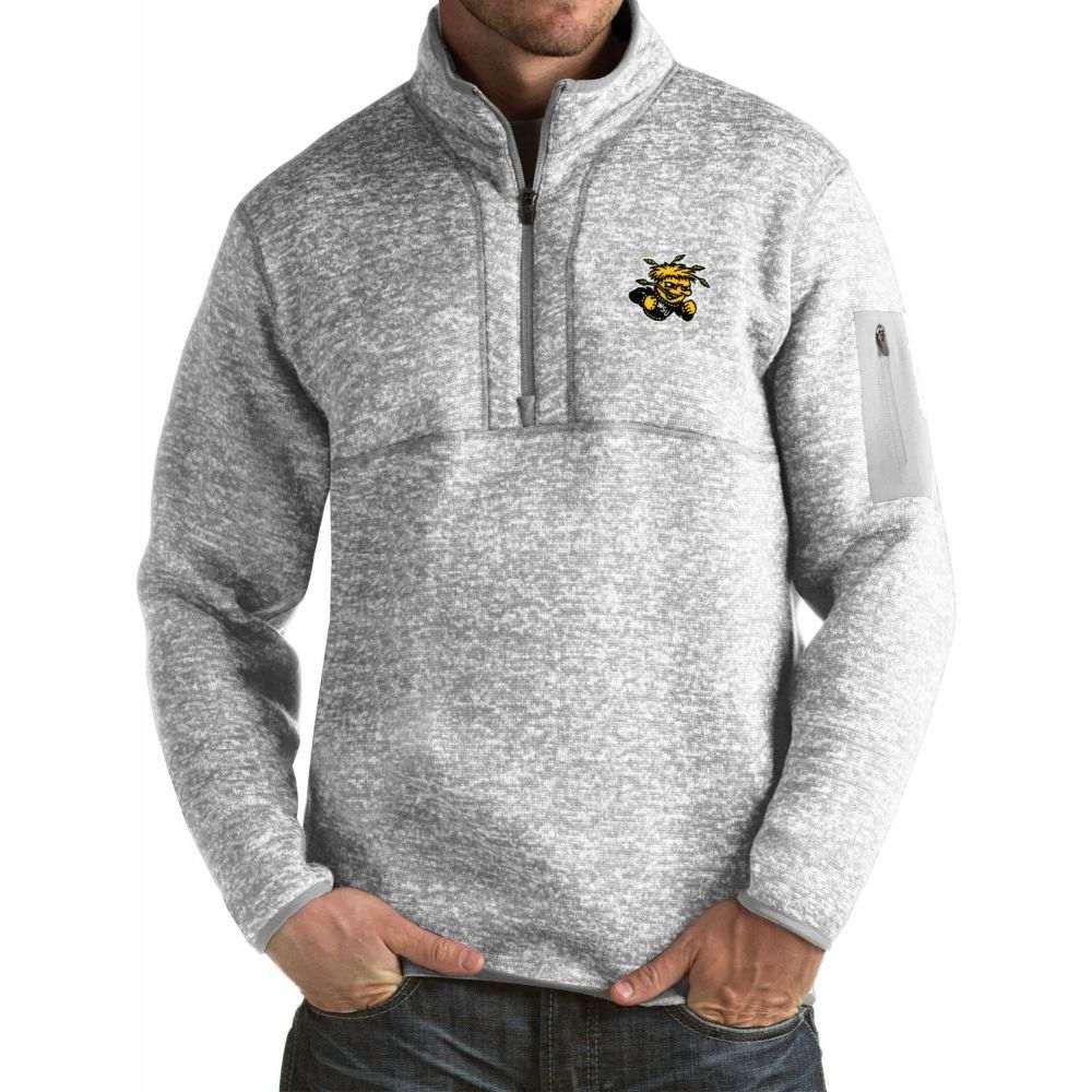 アンティグア メンズ トップス サイズ交換無料 Antigua Wichita Shockers 予約 State Fortune セール特別価格 Grey Pullover Jacket