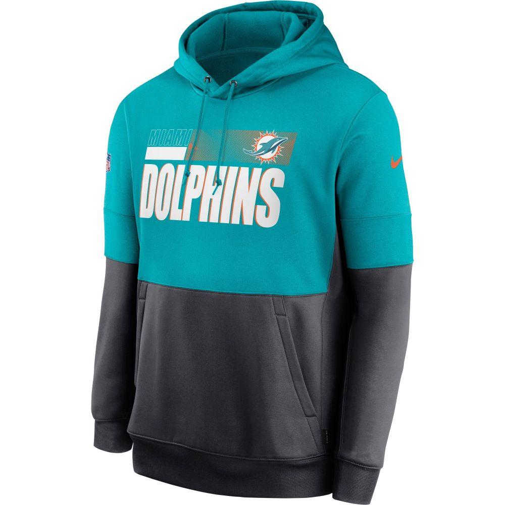 激安特価  ナイキ Nike メンズ パーカー トップス【Miami Dolphins Sideline Lock Up Pullover Aqua Hoodie】, 健康デパート 3dcdbf07