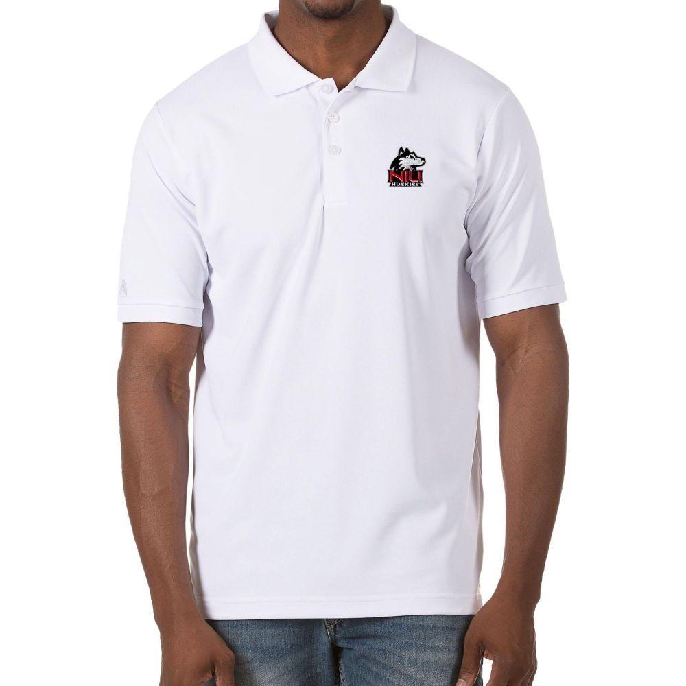 【超特価sale開催!】 アンティグア Antigua メンズ ポロシャツ トップス【Northern Illinois Huskies Legacy Pique White Polo】, ビューティーショップエンジェル 53c3a76b