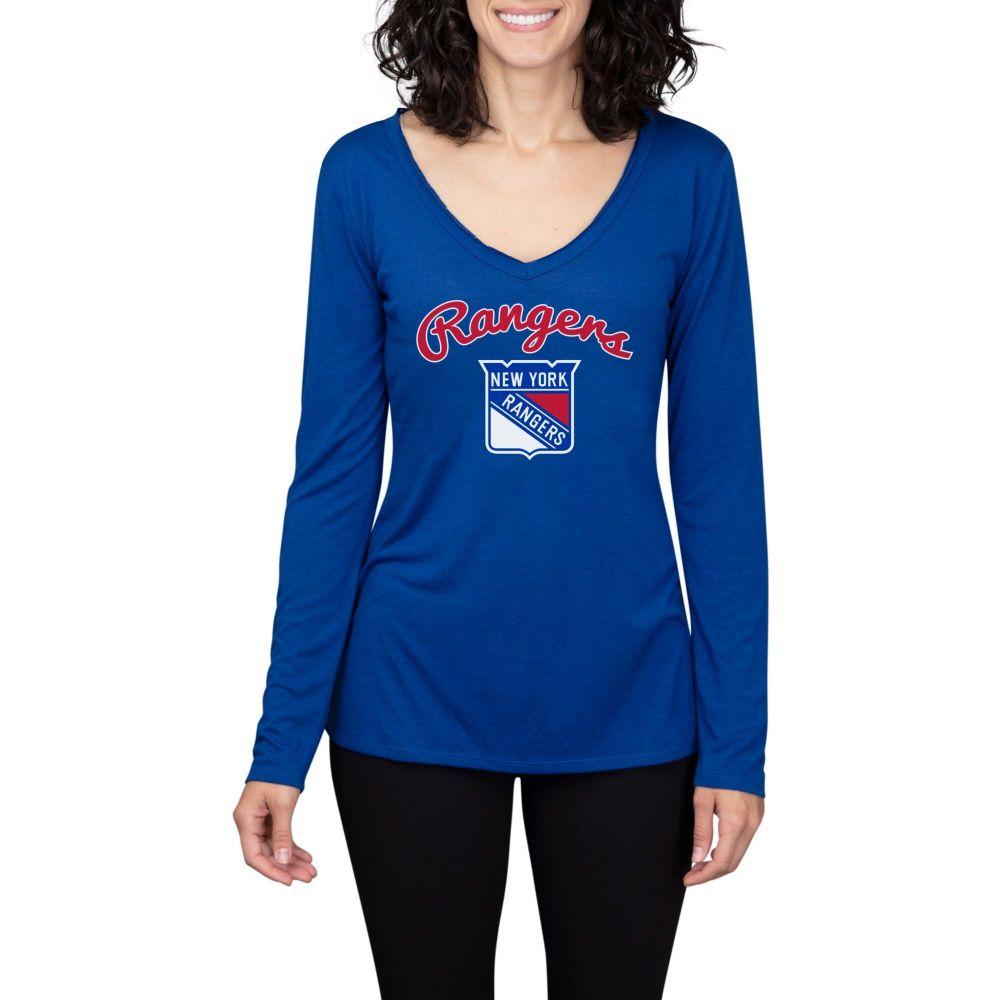 コンセプト スポーツ Concepts Sport レディース 長袖Tシャツ トップス【New York Rangers Marathon Knit Long Sleeve T-Shirt】