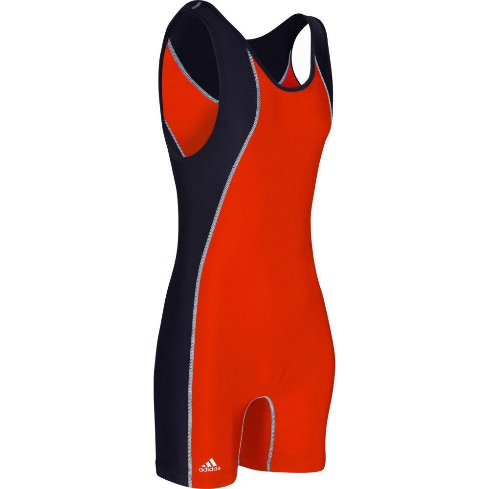 アディダス メンズ レスリング トップス Orange 高品質 Black シングレット Adult adidas 返品交換不可 Singlet サイズ交換無料 Wrestling