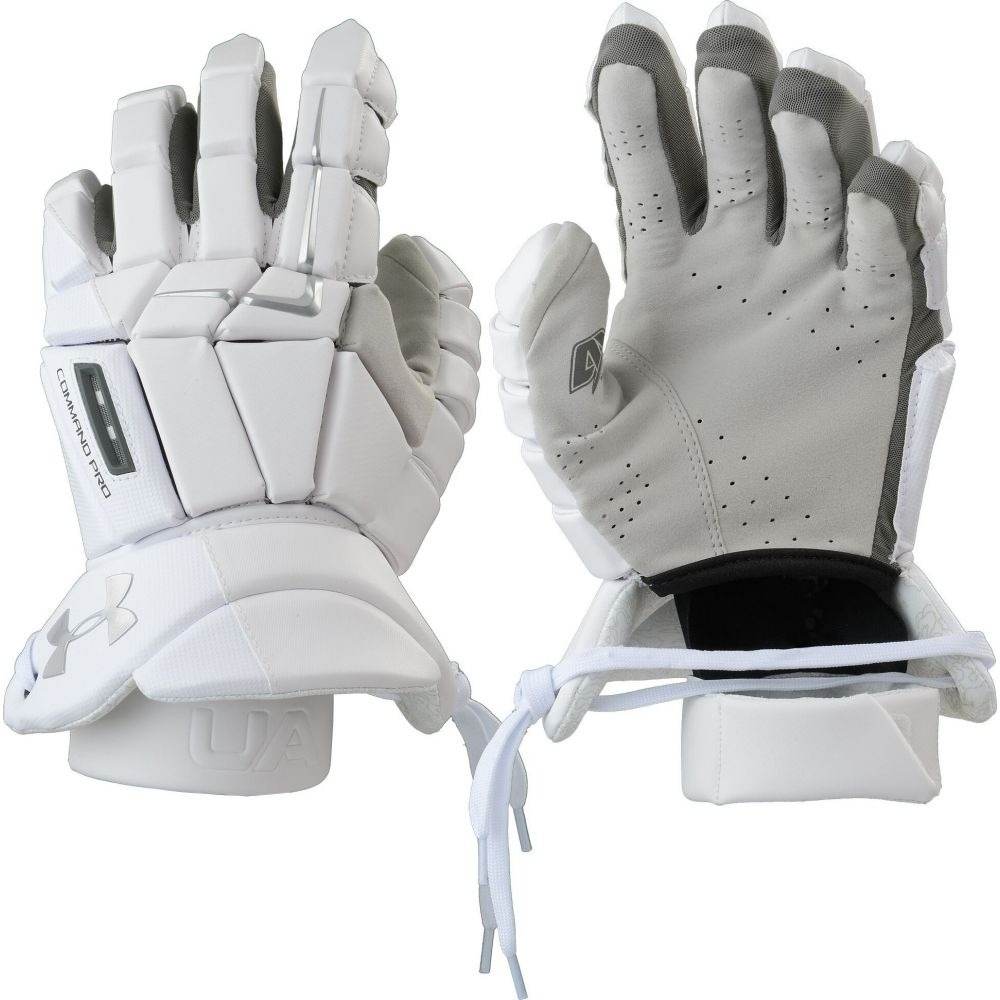アンダーアーマー Under Armour メンズ ラクロス グローブ【Command Pro 3 Lacrosse Gloves】White