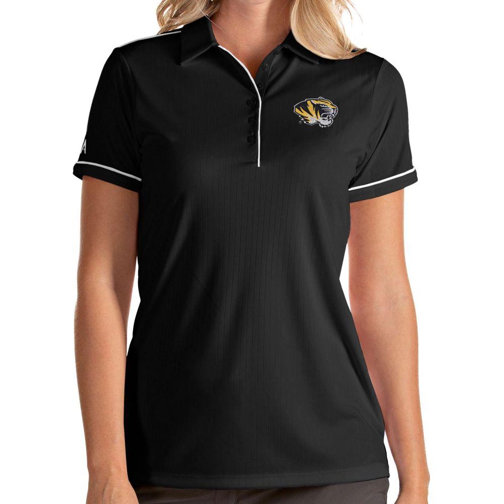 アンティグア 代引き不可 レディース トップス ポロシャツ サイズ交換無料 Antigua Salute Missouri Polo Performance 激安卸販売新品 Black Tigers