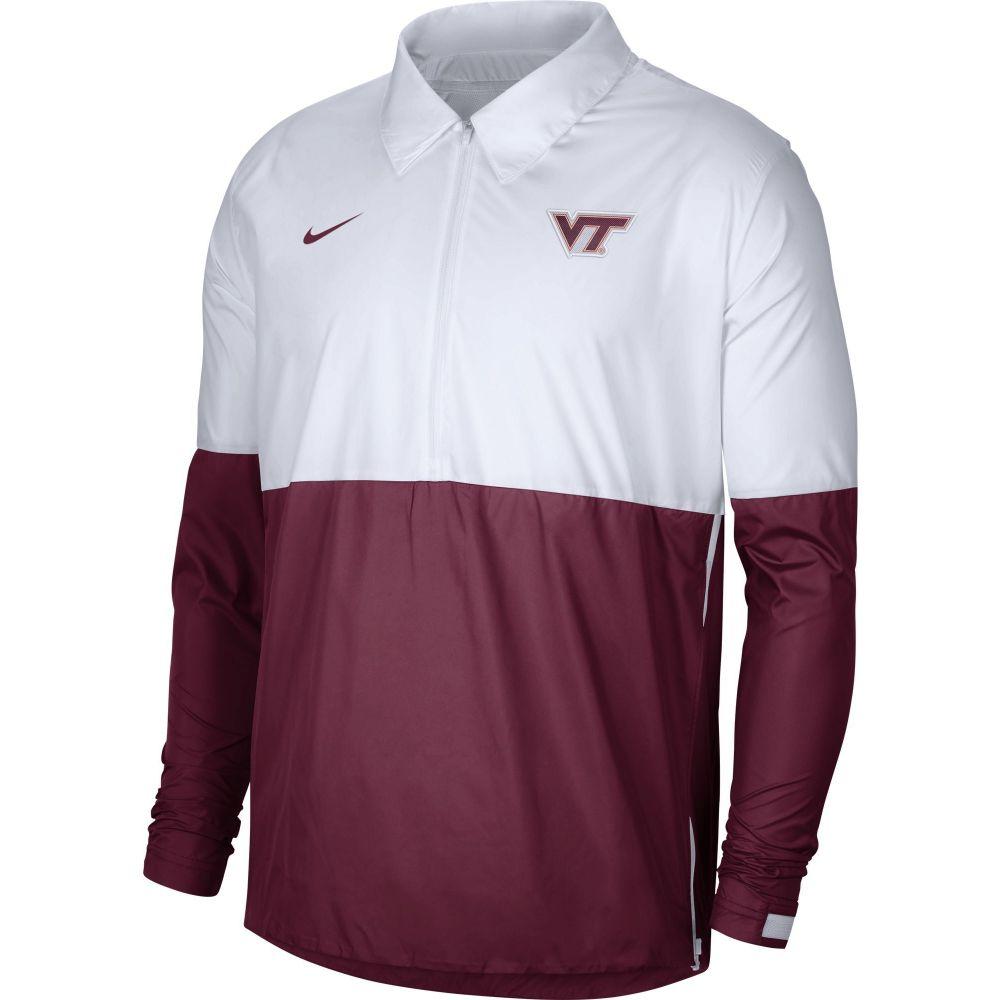 Hokies Nike Coach's Tech コーチジャケット メンズ Lightweight Football ナイキ Jacket】 ジャケット アウター【Virginia White/Maroon