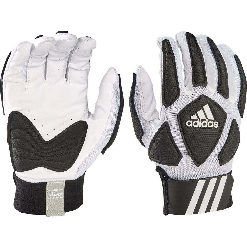 アディダス ユニセックス アメリカンフットボール グローブ White Black 公式通販 サイズ交換無料 ラインマングローブ 限定タイムセール Gloves Scorch Lineman adidas Destroy Adult