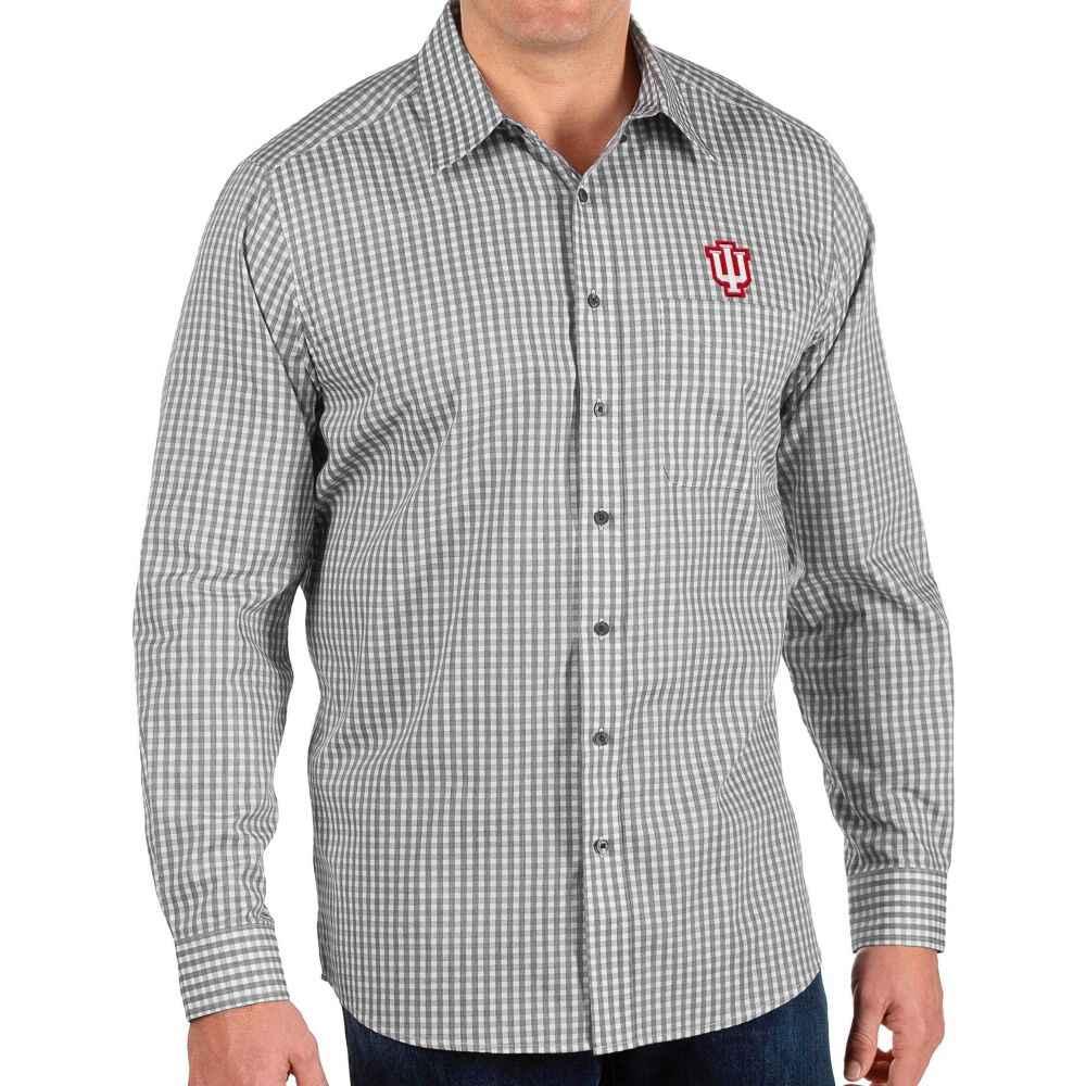 激安単価で アンティグア Antigua メンズ シャツ トップス【Indiana Hoosiers Structure Button Down Long Sleeve Black Shirt】, 平群町 85e17e86