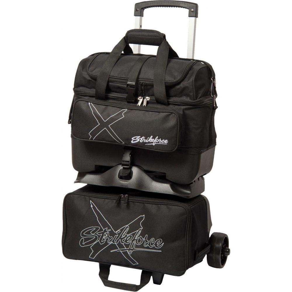 Strikeforce ケーアールストライクフォース ボウリング Bag】Black KR X ユニセックス Roller ボーリングバッグ Bowling スーツケース・キャリーバッグ【Hybrid 4-Ball