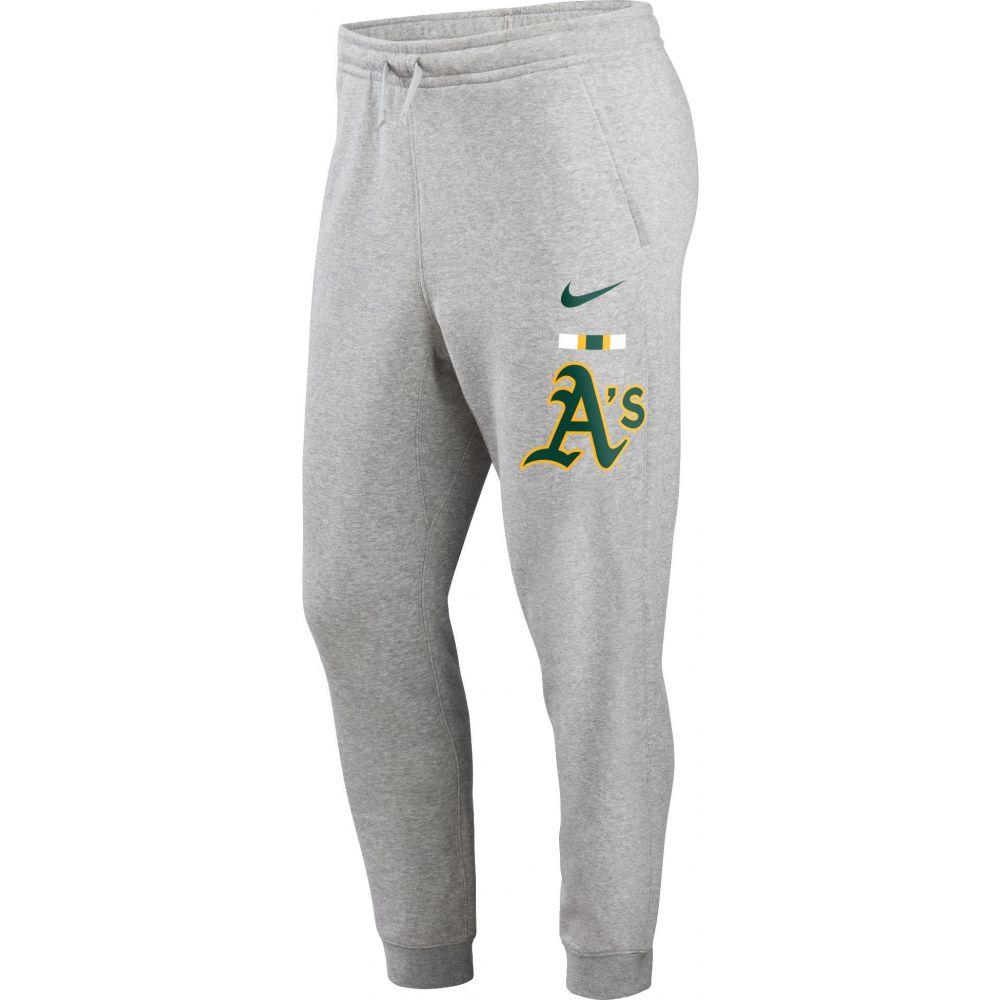 Bar Club ナイキ Fleece ボトムス・パンツ【Oakland Color Athletics Grey Joggers】 ジョガーパンツ Nike メンズ