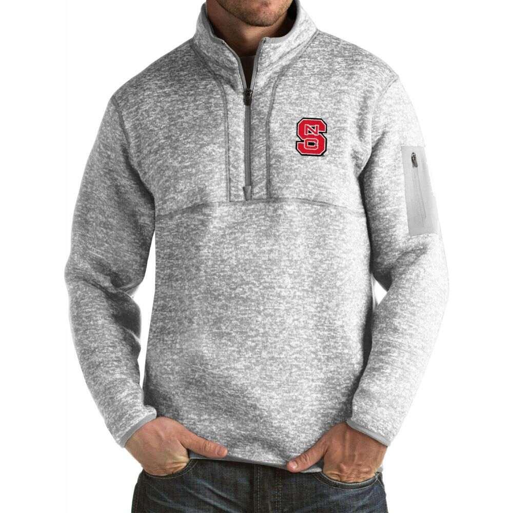 商い アンティグア メンズ トップス サイズ交換無料 Antigua NC Wolfpack Grey State Pullover 全品最安値に挑戦 Fortune Jacket