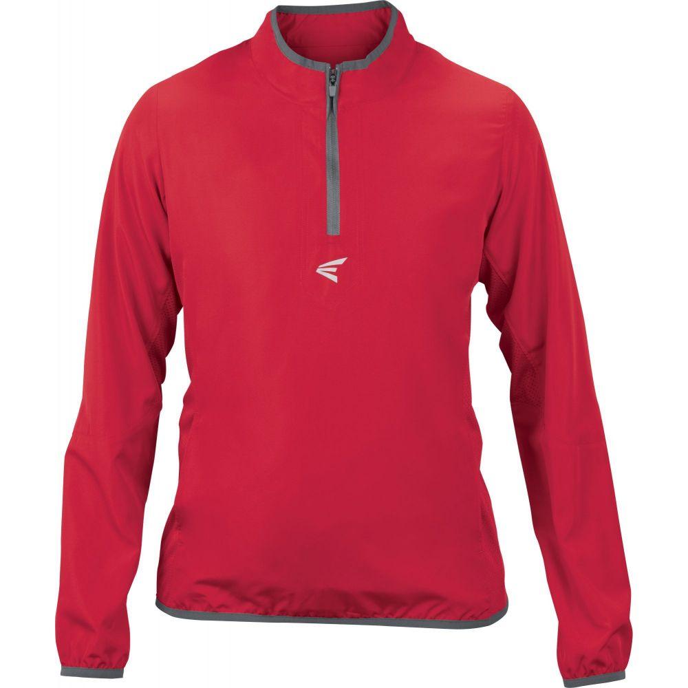 イーストン Easton Sports レディース 野球 ジャケット トップス【Easton M5 Cage Batting Jacket】Red/Charcoal