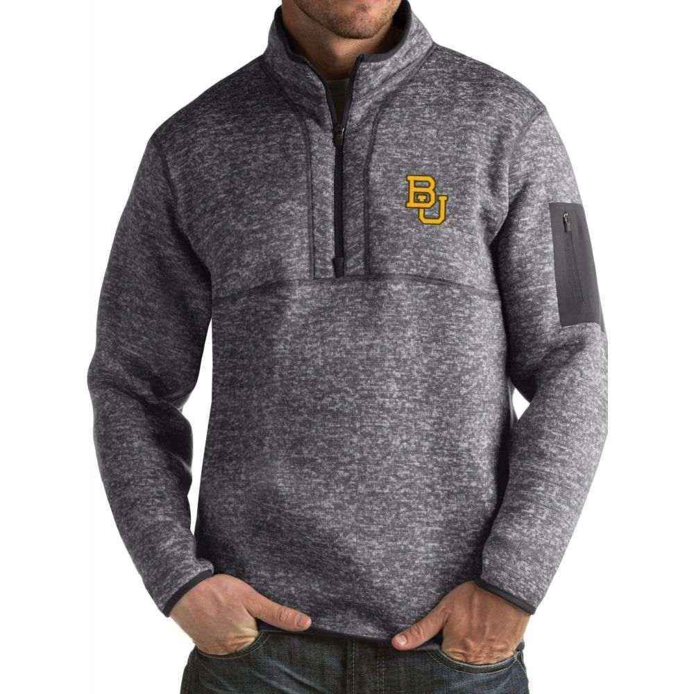 アンティグア メンズ トップス サイズ交換無料 大規模セール Antigua Baylor Bears Fortune Pullover 交換無料 Grey Jacket