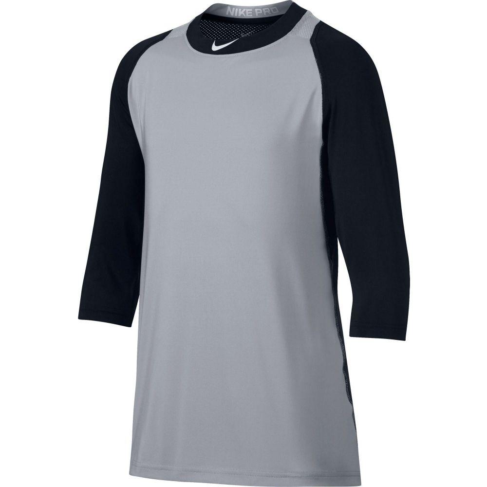 ナイキ Nike メンズ 野球 七分袖 トップス【Pro Cool Reglan 3/4-Sleeve Baseball Shirt】Black/Grey