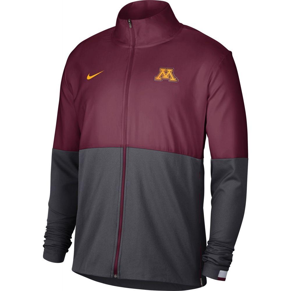 ジャケット Golden Woven メンズ Nike Gophers Full-Zip ナイキ Colorblock Maroon/Grey Jacket】 アウター【Minnesota