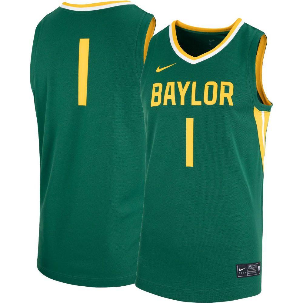 第一ネット ナイキ Nike メンズ【Baylor メンズ トップス【Baylor Bears #1 Green Replica Basketball Basketball Jersey】, 旭区:d28db6d4 --- coursedive.com
