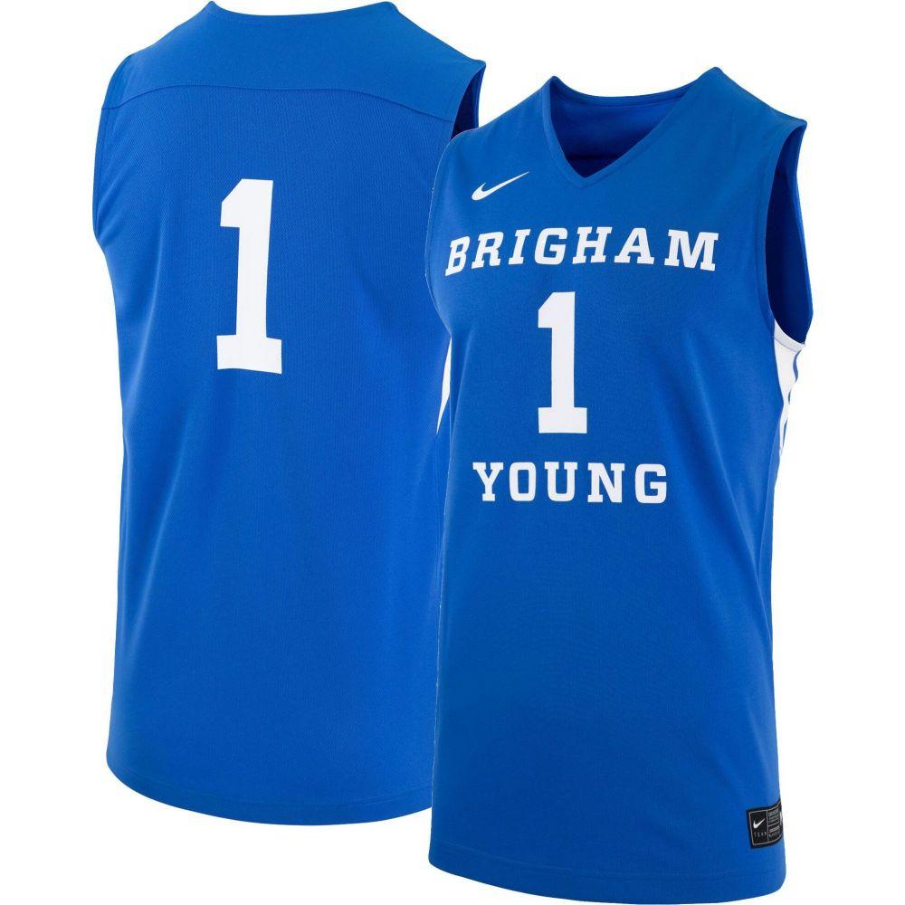 【ラッピング無料】 ナイキ Nike ナイキ メンズ #1 トップス【BYU Jersey】 Cougars #1 Blue Replica Basketball Jersey】, シンミナトシ:a991d134 --- coursedive.com