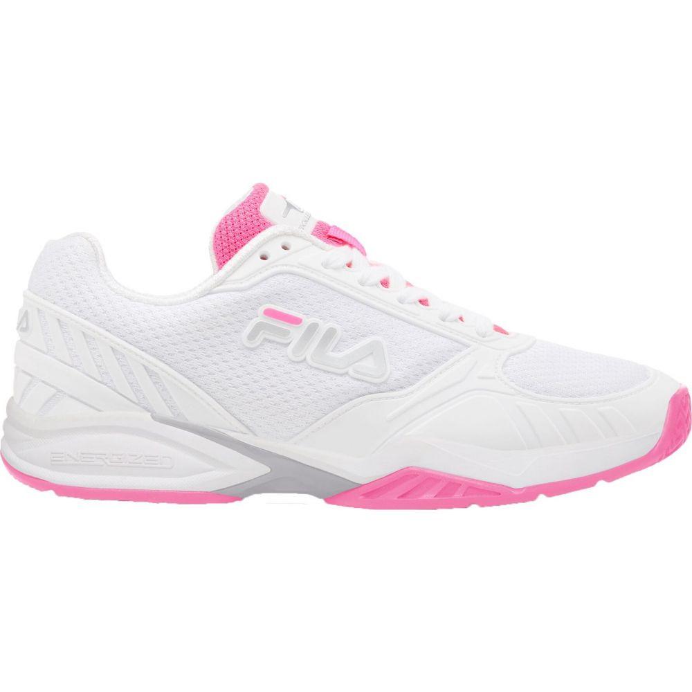 フィラ レディース テニス シューズ 靴 2020 新作 White Pink Volley サイズ交換無料 出荷 Fila Pickleball Shoes Zone