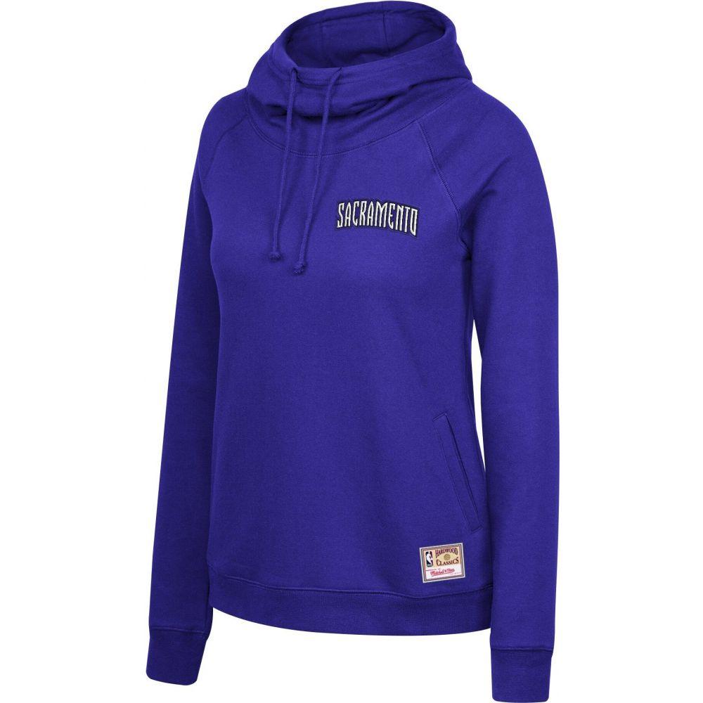 ミッチェルネス レディース 人気ブランド多数対象 トップス パーカー サイズ交換無料 Mitchell Ness Pullover Funnel Purple Sacramento Kings Neck Hoodie 毎週更新