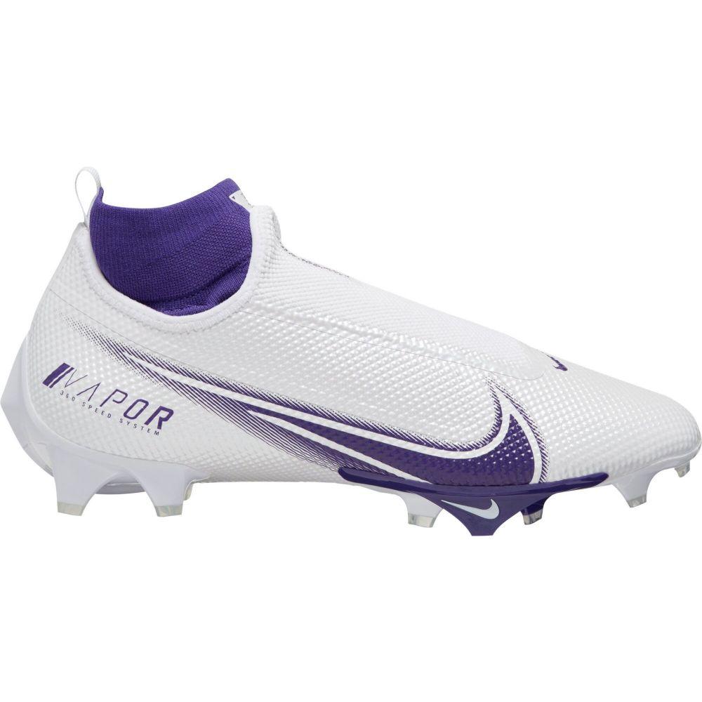 ナイキ メンズ アメリカンフットボール シューズ・靴 White/Purple 【サイズ交換無料】 ナイキ Nike メンズ アメリカンフットボール スパイク シューズ・靴【Vapor Edge Pro 360 Football Cleats】White/Purple