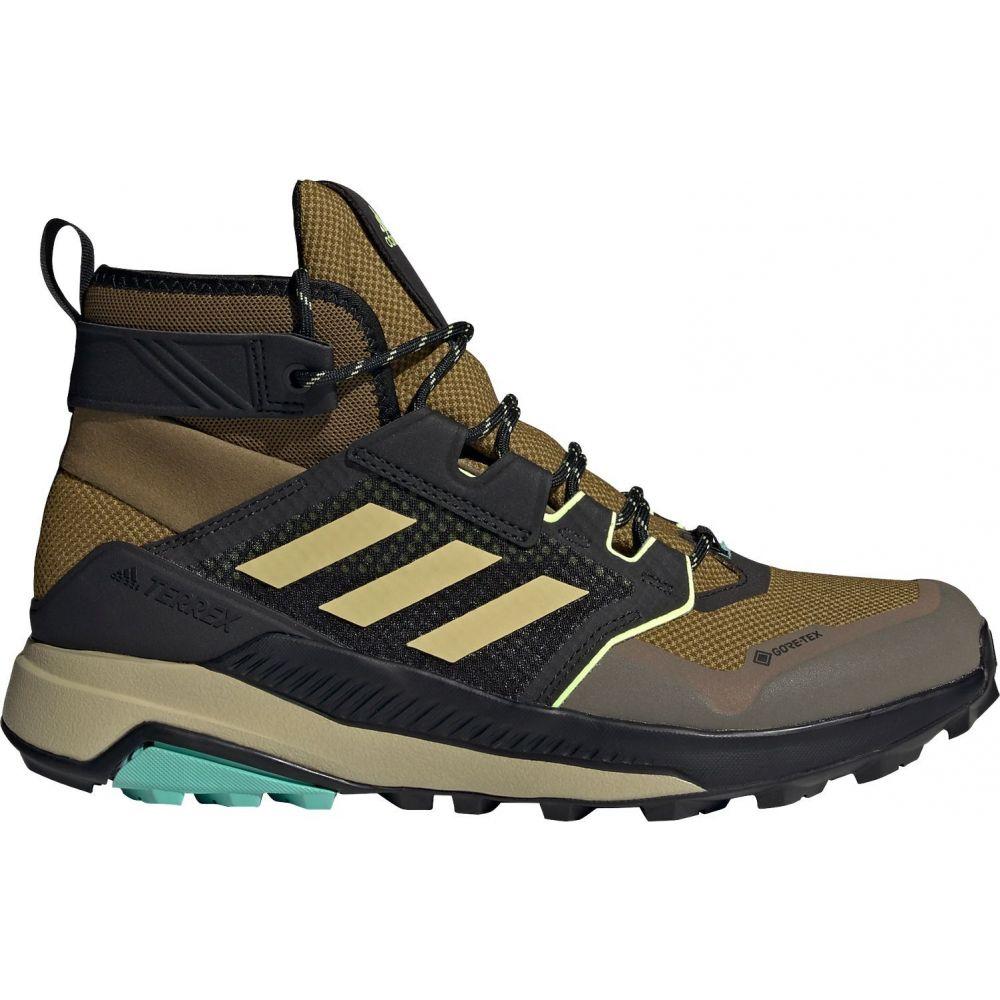AL完売しました。 アディダス メンズ ハイキング 登山 シューズ 靴 Moss Yellow Hiking GTX サイズ交換無料 Trailmaker 送料無料でお届けします Shoes Terrex adidas