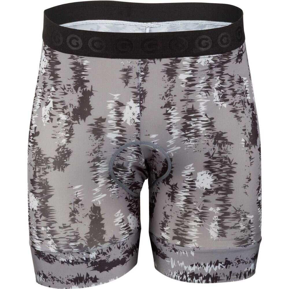 ルイガノ メンズ 自転車 ボトムス パンツ Gray Camo Print Louis 即出荷 Shorts Garneau Liner サイズ交換無料 ショートパンツ 待望