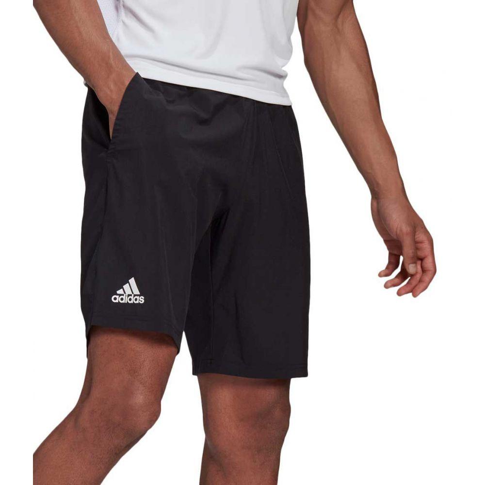 アディダス メンズ テニス ボトムス ギフト パンツ Black White 宅配便送料無料 サイズ交換無料 Club Tennis Woven Shorts ショートパンツ adidas Stretch