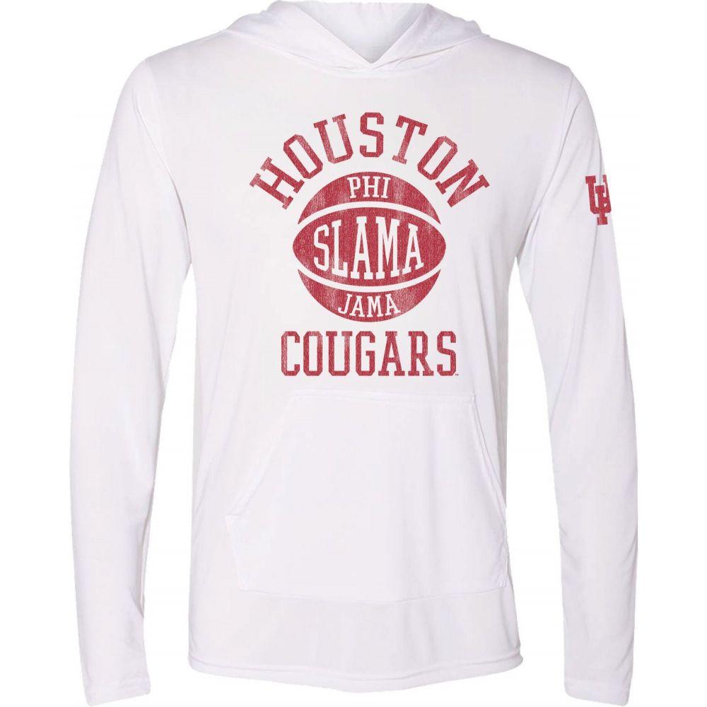 ザ ビクトリー 訳ありセール 格安 メンズ バスケットボール トップス サイズ交換無料 The Victory Tシャツ 全店販売中 Houston Pullover Cougars Hooded Jama' Slama Phi Basketball White T-Shirt
