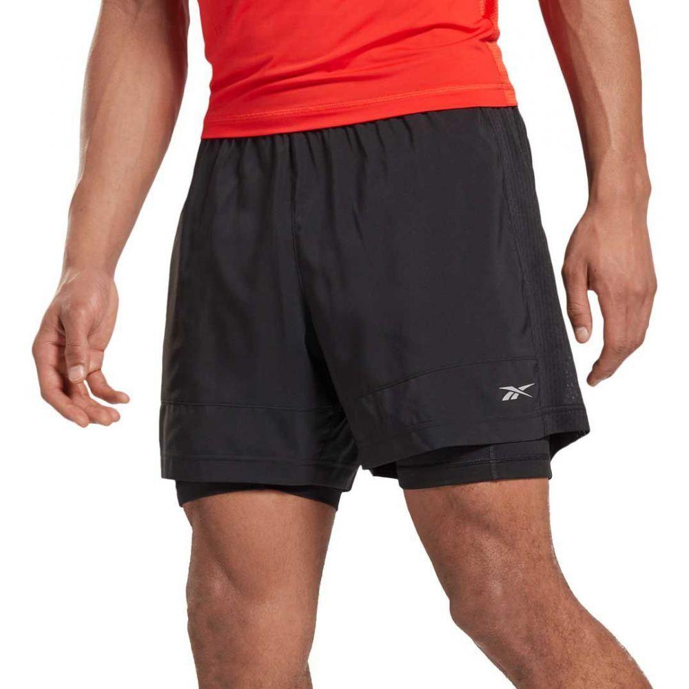 リーボック メンズ ランニング ウォーキング ボトムス パンツ Black Running 卓出 正規品 Shorts サイズ交換無料 ショートパンツ Reebok 2-in-1 Essentials