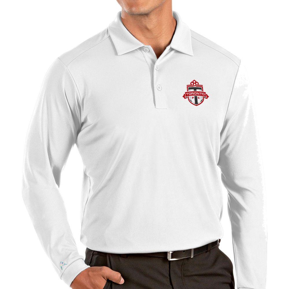 アンティグア Antigua メンズ ポロシャツ トップス【Toronto FC White Tribute Long Sleeve Performance Polo】