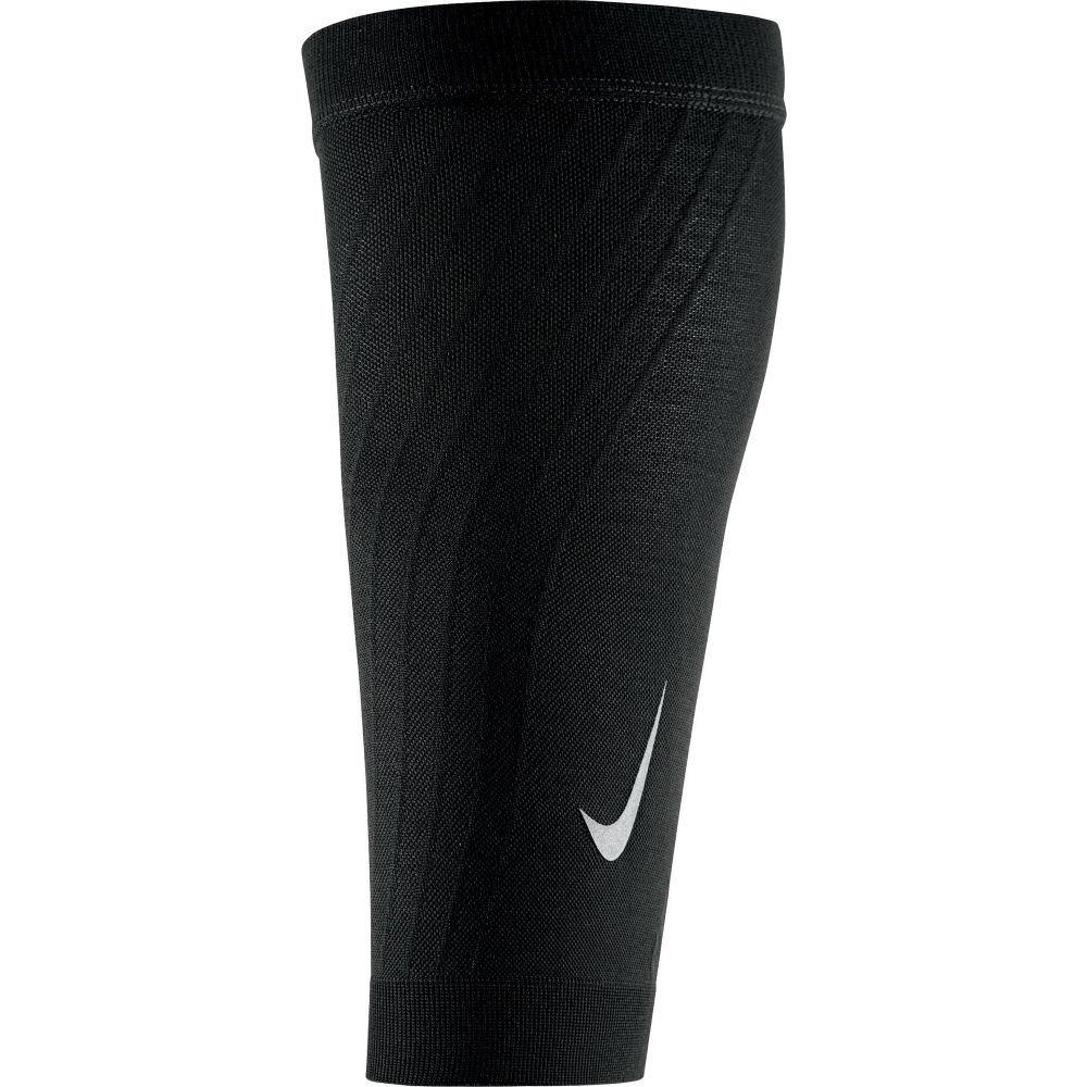 ナイキ ユニセックス フィットネス トレーニング サポーター Black Silver Nike お値打ち価格で Calf Support Zoned 新作 大人気 サイズ交換無料 Sleeves