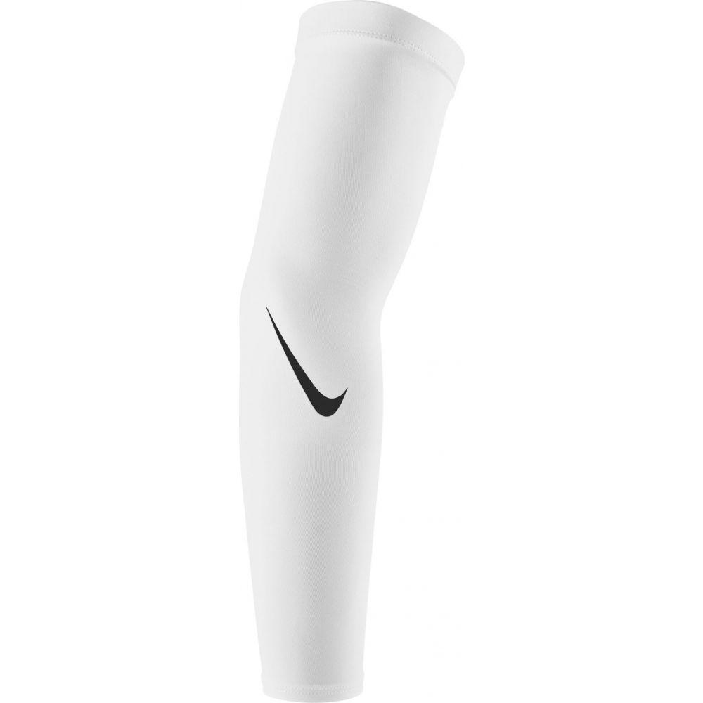 ナイキ ユニセックス アメリカンフットボール サポーター White Black お金を節約 サイズ交換無料 Nike Adult Sleeves 4.0 Pro 本日限定 ドライフィット Arm Dri-FIT